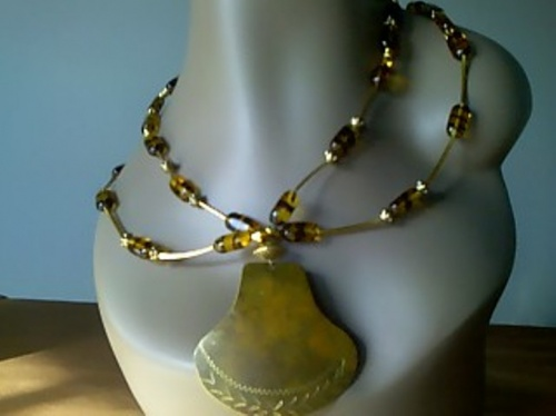 tiger shield necklace