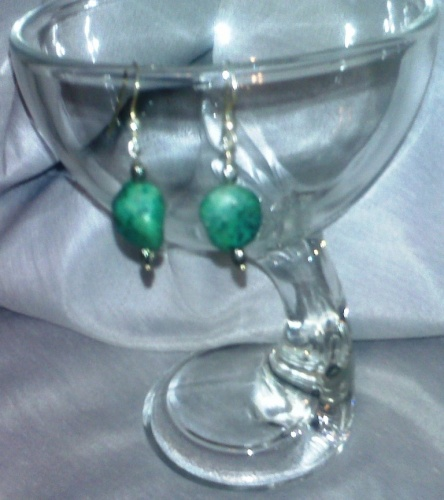 Turquoise  Smoke (earrings)