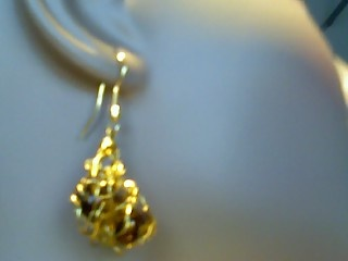 clustered tiger earrings