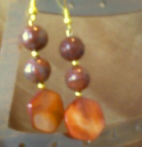 rouge earrings